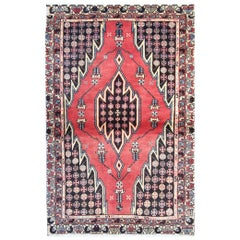 Traditional Vintage Red Oriental Rug Tribal Carpet