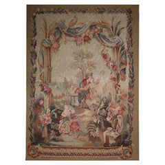 Traditional Wall Decor Handmade Rug French Style Tapestry Forest Scene