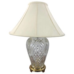 Traditional Waterford Crystal Pineapple Style Large Table Lamp
