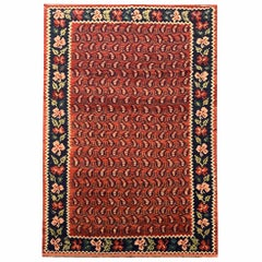 Traditional Wool Antique Carpet Caucasus Karabagh Kilim Rug