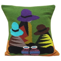 Traditional Woven Ecuadorian Decorative Pillow