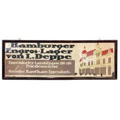 Traffic Advertisement, German Department Store, Lithograph Around 1920