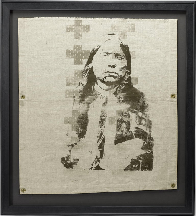 This is a contemporary silkscreen print of an American Indian entitled