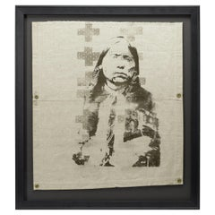"""""""Trail of Tears"""" Native American Indian Print on Vintage Canvas"""