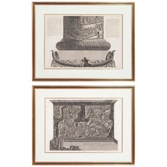 Trajan's Column Plates X and XI by Giovanni Battista Piranesi