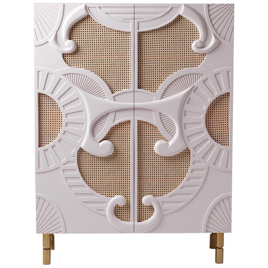 Bar Cabinet with Hand Sculpted Details Traje De Luces