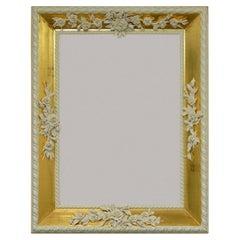 Tralcio di Rose White and Gold Frame