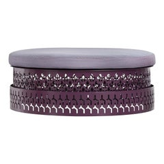 Trame Purple Oval Pouf