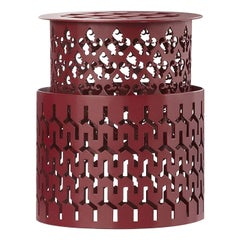 Trame Small Round Red Stool