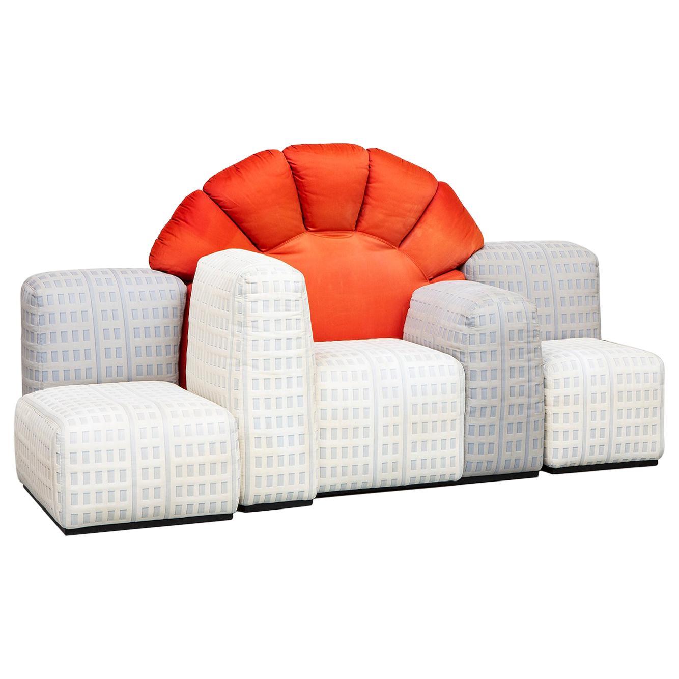 Tramonto a New York Modular Sofa Designed by Gaetano Pesce for Cassina, 1984