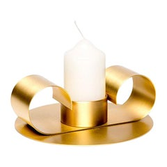 Tramonto Brass Candleholder for Large Candle by Cristina Celestino