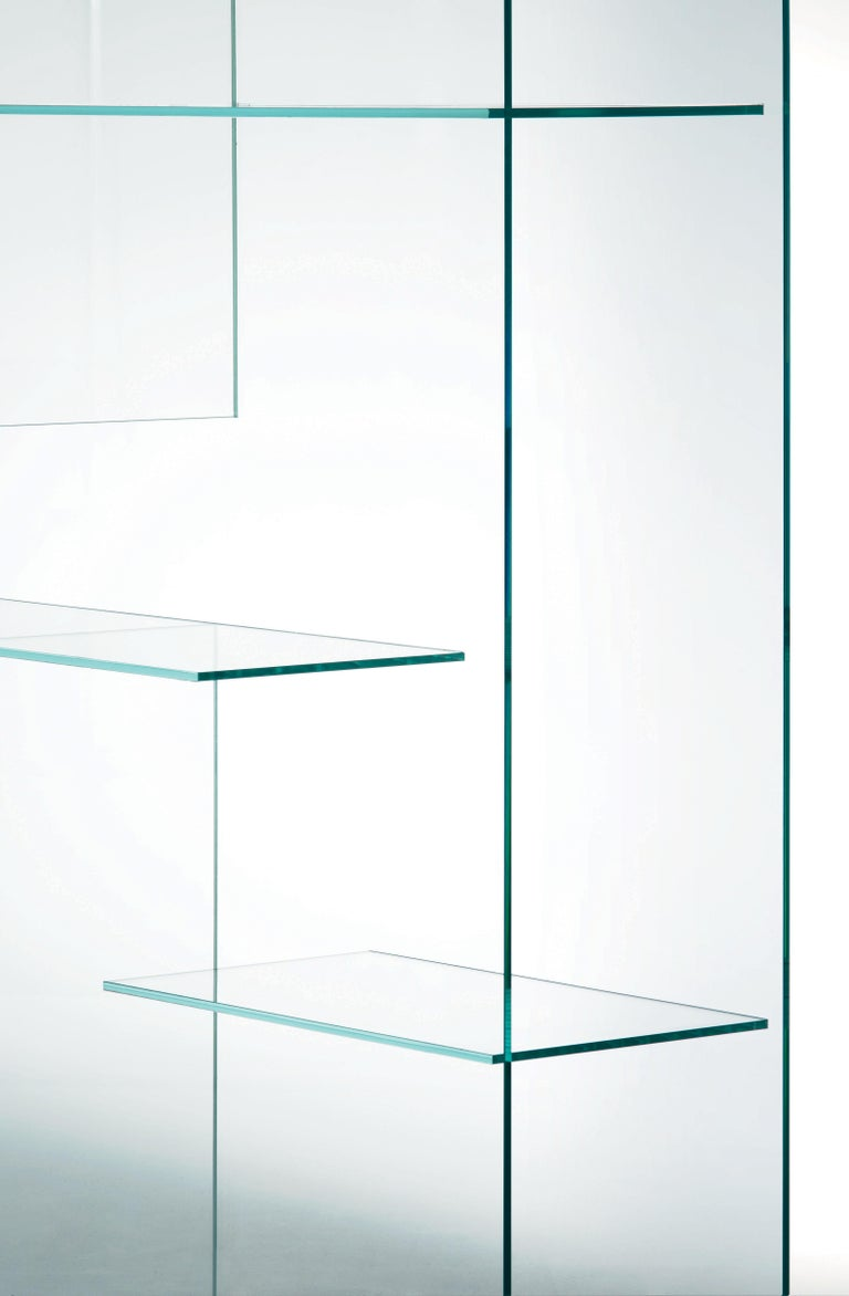 Transfix Storage Unit in Glass, by Marc Krusin, Kensaku Oshiro from Glas Italia In New Condition For Sale In Macherio, IT