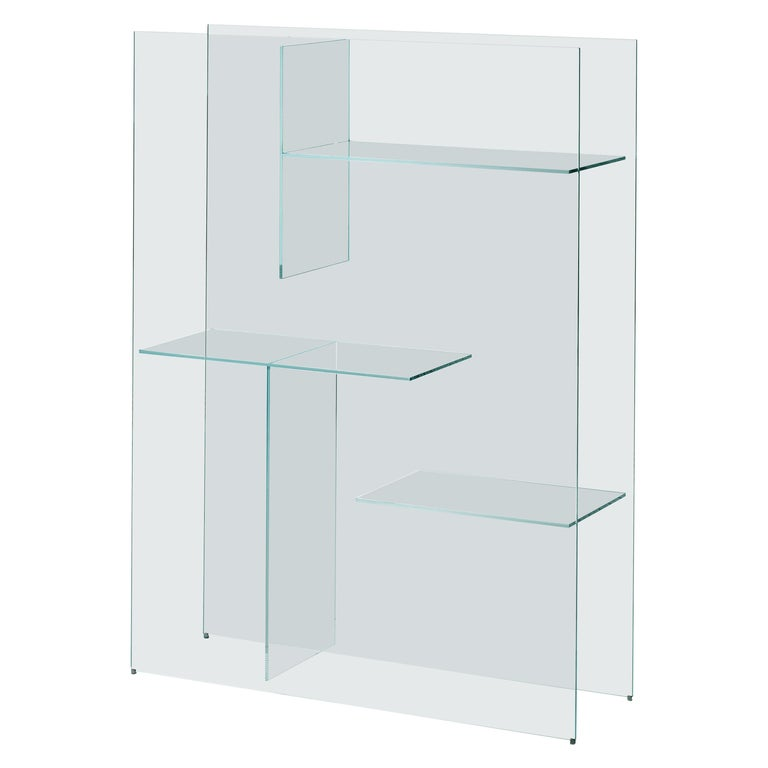 Modern Transfix Storage Unit in Glass, by Marc Krusin, Kensaku Oshiro from Glas Italia For Sale