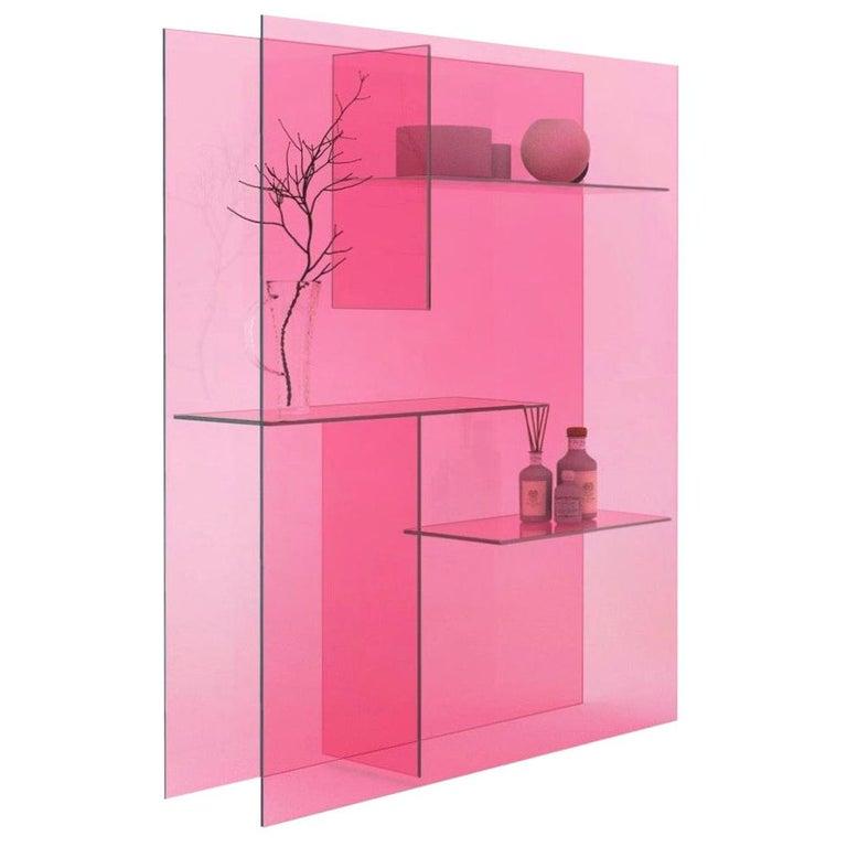 Transfix Storage Unit in Glass, by Marc Krusin, Kensaku Oshiro from Glas Italia For Sale