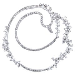 Transformable Diamond Swan Brooch and Pendant in 18 Karat White Gold