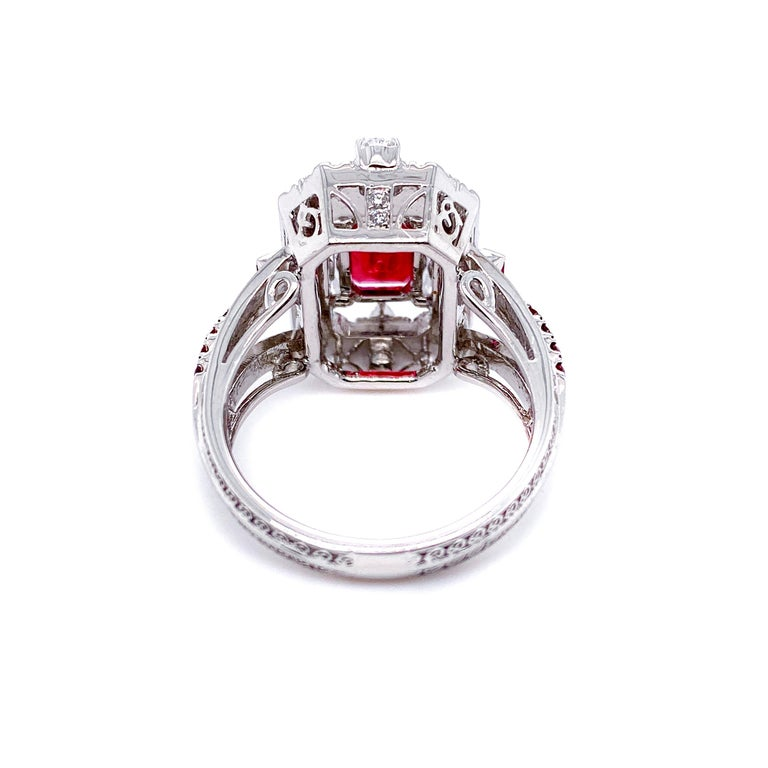 Women's or Men's Transformable GRS Certified 'Pigeon's Blood' Ruby Cocktail Ring For Sale