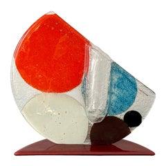 Transforme Design Multicolored Glass Solitair Vase, ca. 1980s