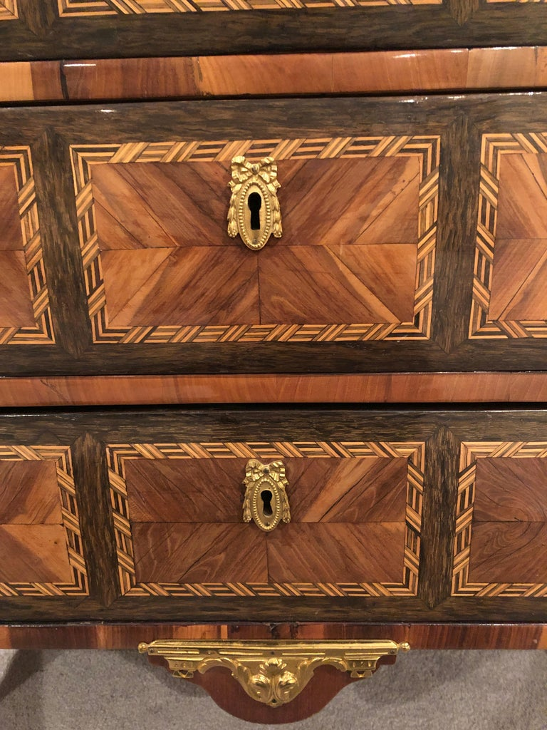 French Transition Chest of Drawers, France, 1780 For Sale