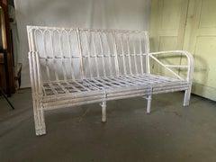 Transition Style Three Seat Bamboo/Rattan Sofa