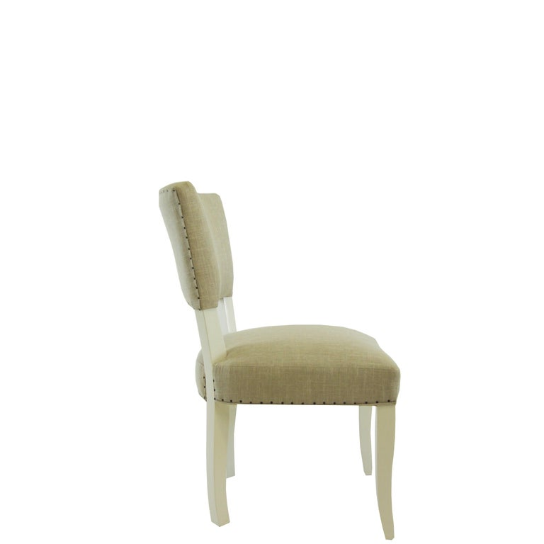 Modern Transitional Armless Dining Chair For Sale