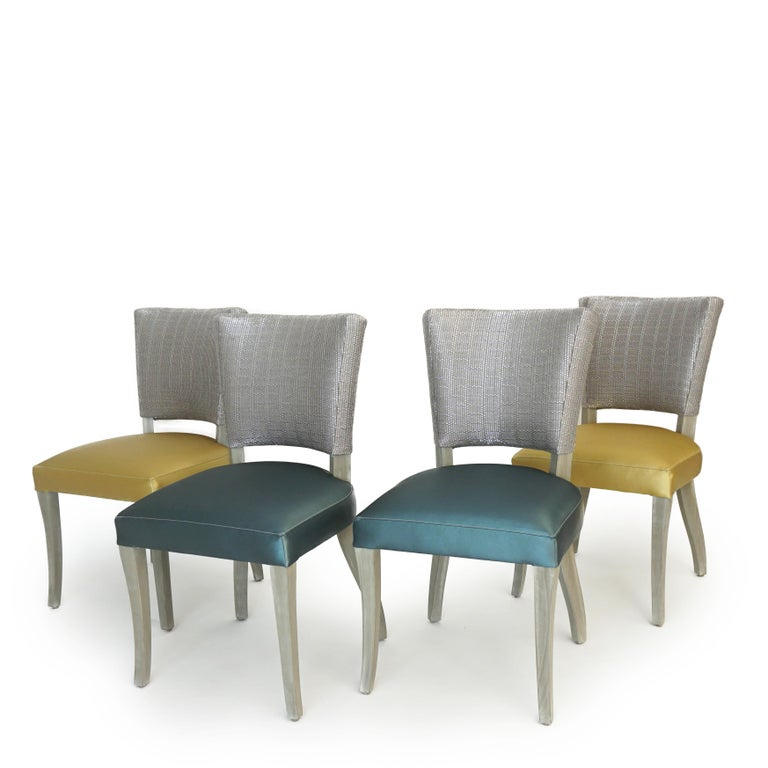 American Transitional Armless Dining Chair For Sale