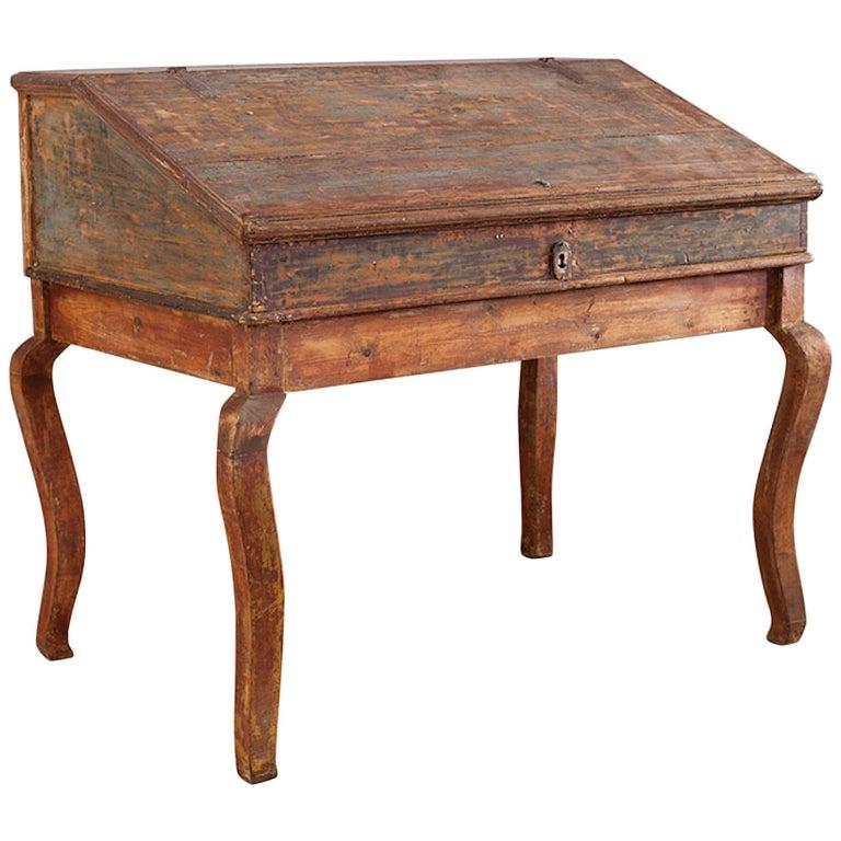 Transitional Baroque/Rococo Tilt-Top Writing Table, Origin: Sweden, circa 1750 For Sale