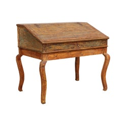 Transitional Baroque/Rococo Tilt-Top Writing Table, Origin: Sweden, circa 1750