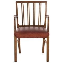 Transitional Danish Modern Occasional Chair by Ole Wanscher