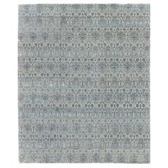 Transitional Design Wool & Silk Rug