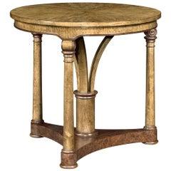 Transitional English Oak Side Table