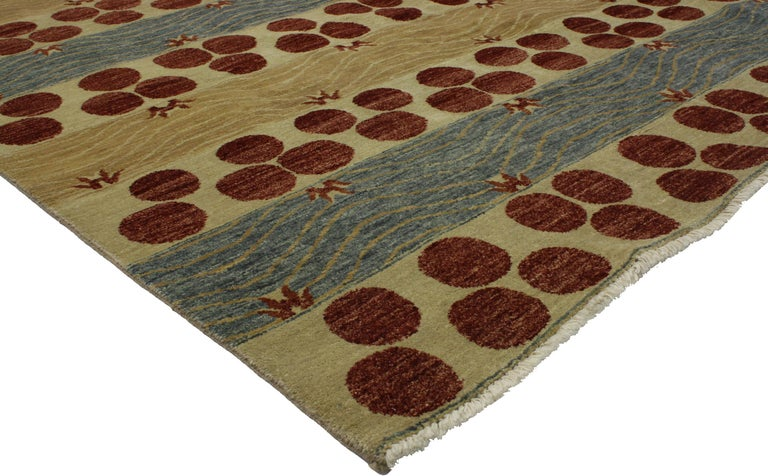 Transitional Indian Area Rug With Contemporary Art Deco