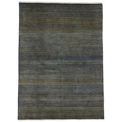 Transitional Indian Area Rug with Mid-Century Modern Style