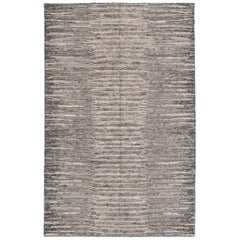 Transitional Modern Indian Silver Rug