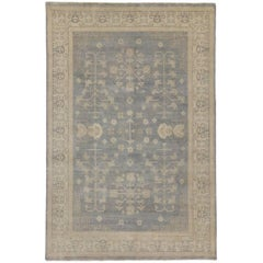 Transitional Rug with Khotan Design and Modern Style and Light Colors