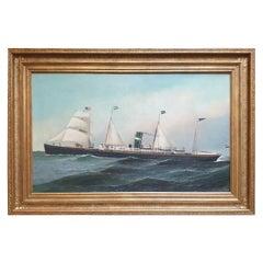 """Transitional Steamship Veendam"" by Antonio Jacobsen"