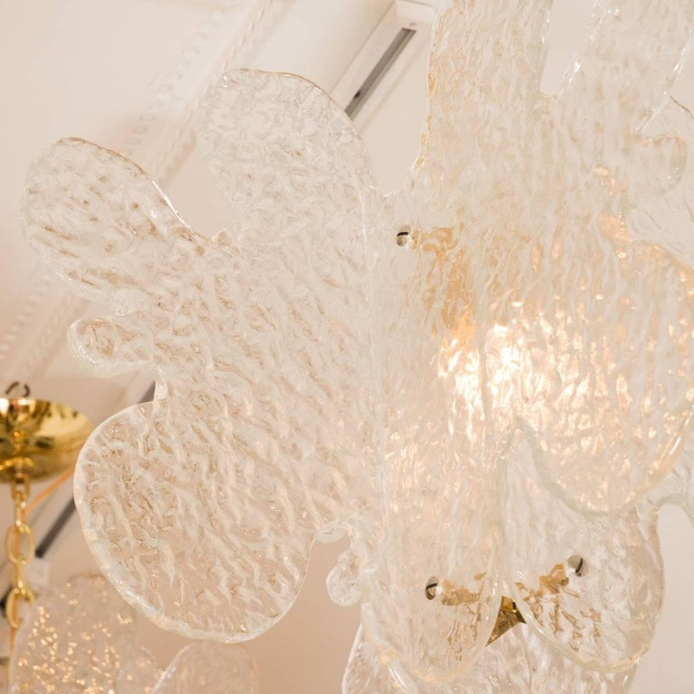 Mid-Century Modern Translucent Biomorphic Shaped Ceiling Fixture For Sale