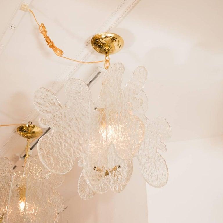 Italian Translucent Biomorphic Shaped Ceiling Fixture For Sale