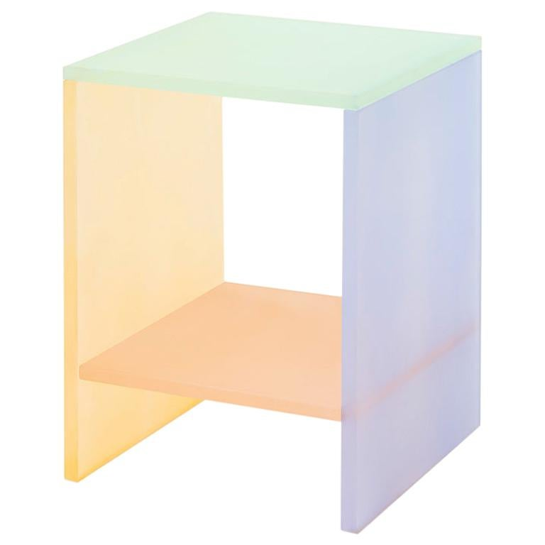 Translucent Pastel Hand Dyed Acrylic Tone Table by Sohyun Yun, Blue Tone For Sale