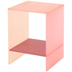 Translucent Pastel Hand-Dyed Acrylic Tone Table by Sohyun Yun, Pink Tone