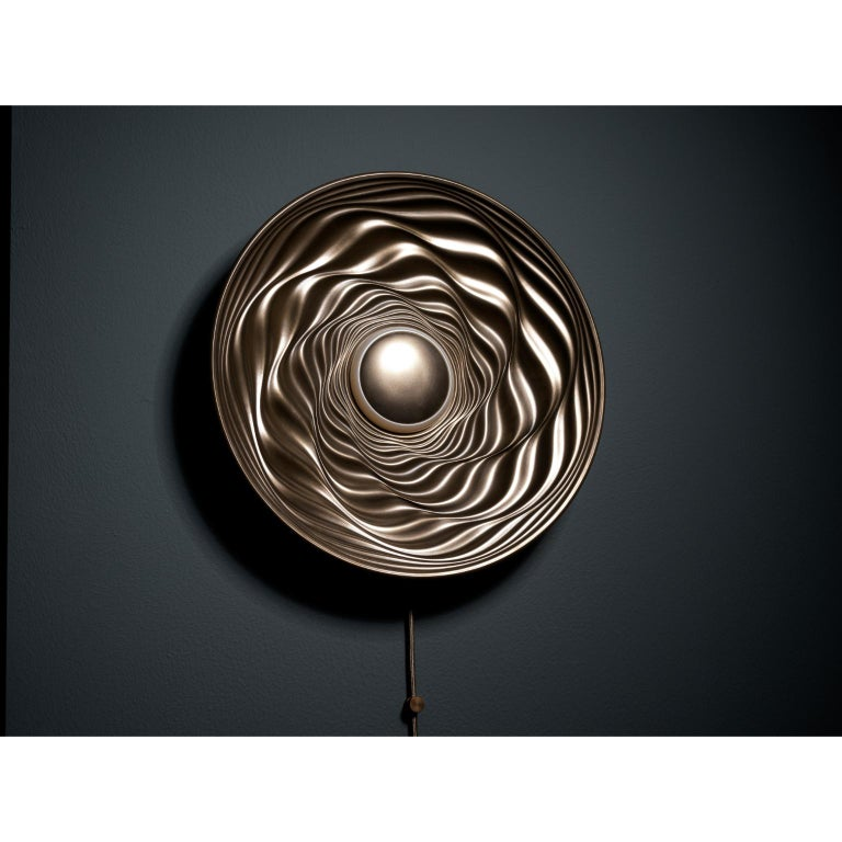 Modern Transmission Bronze Sculpture by David Tragen For Sale