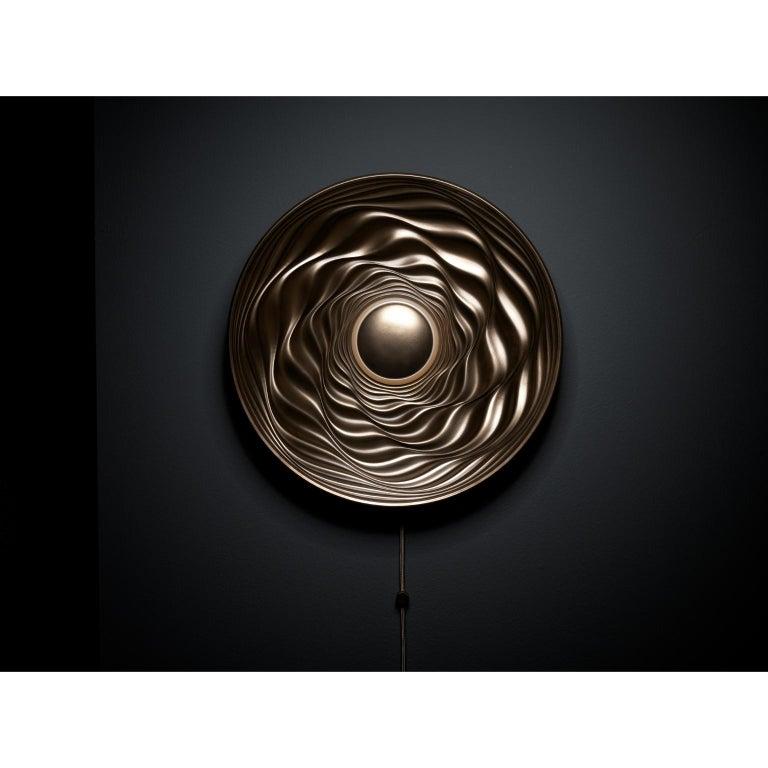 Contemporary Transmission Bronze Sculpture by David Tragen For Sale