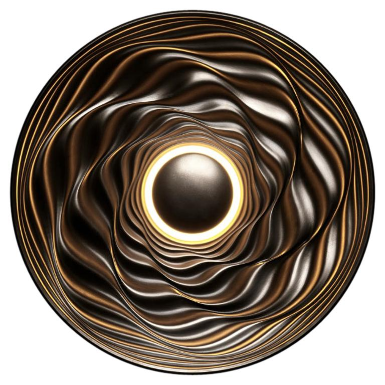 Transmission Bronze Sculpture by David Tragen For Sale