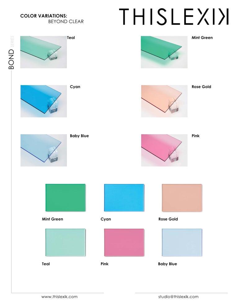 American Transparent Acrylic Side-Table with Multi-Purpose Sub-Seat Terrarium For Sale