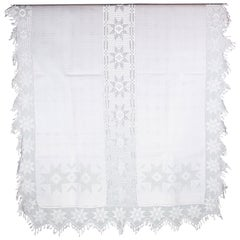 Transylvanian Softened Linen Tablecloth from the 1940s