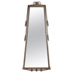 Trapeze Mirror frame by Paul Kiss, Wrought Iron, Art Deco, 1930