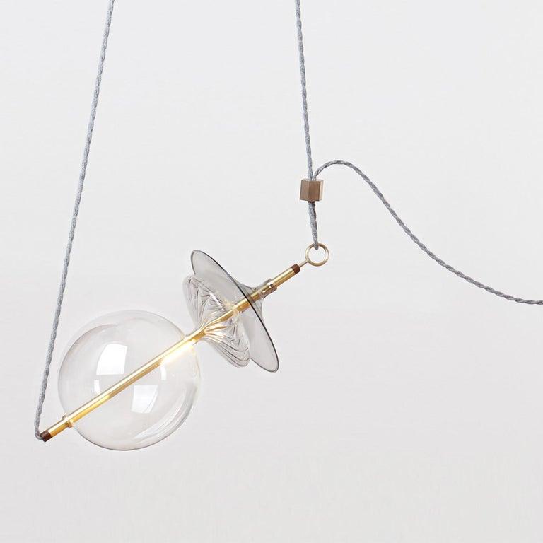 Italian Trapezi 6-Light Chandelier For Sale