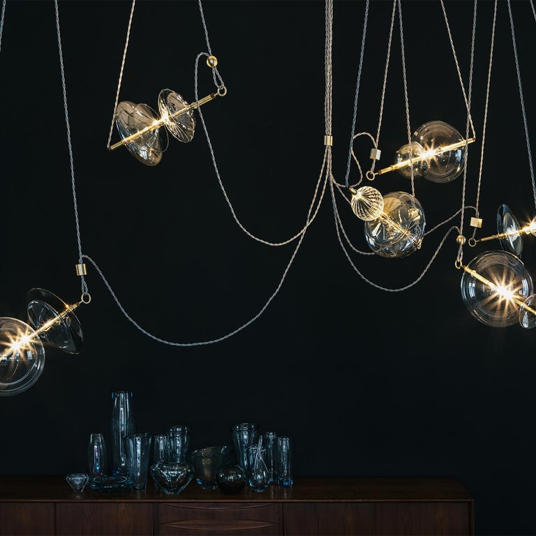 Trapezi 6-Light Chandelier In New Condition For Sale In Milan, IT