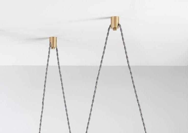 Trapezi Four Lights Contemporary Pendant/Chandelier Lustro-Painted Blown Glass For Sale 2