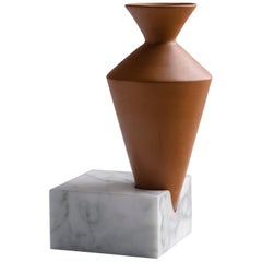 Trascorso, Contemporary Storage Vessels or Sculptures in Marble and Ceramic