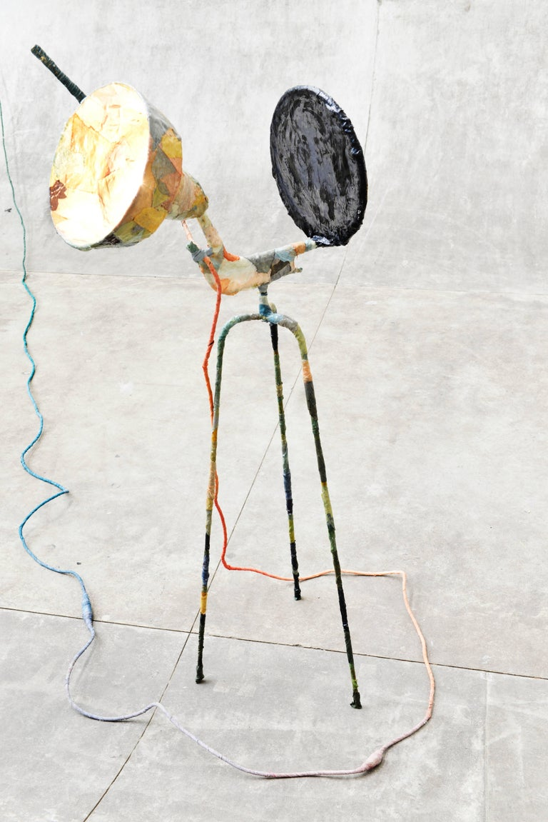Steel Trash Light Floor Lamp by Pepe Heykoop For Sale